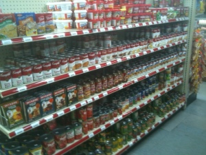 A recent example of a store set by Merchandising Manager Jim Norton