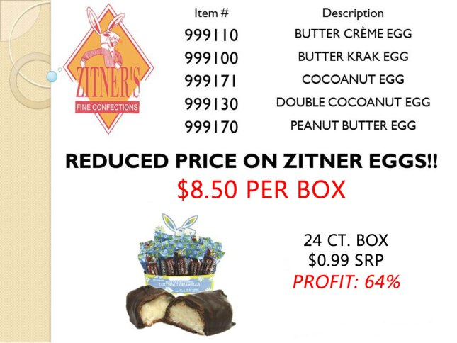 Ztiner Eggs Best Deal from Allen Brothers